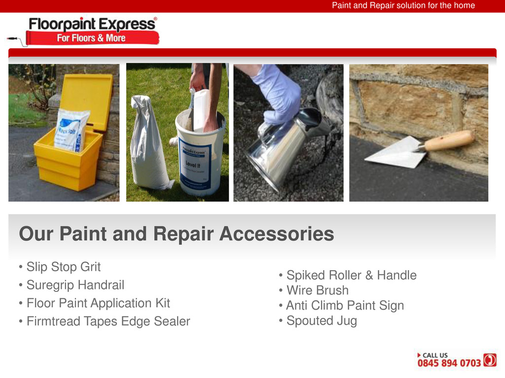 Paint and Repair solution for the home Our Pain...