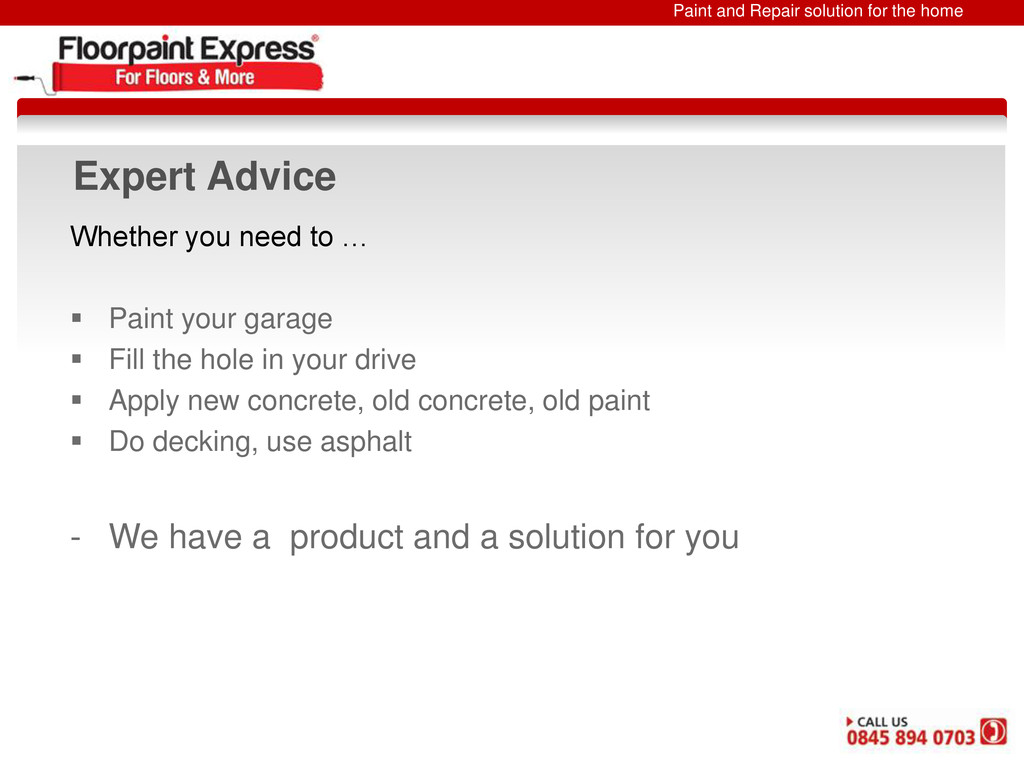 Paint and Repair solution for the home Expert A...