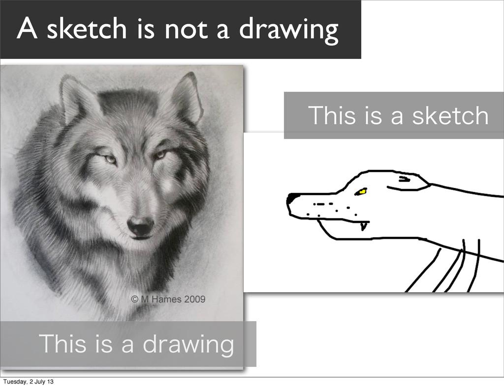 5IJTJTBESBXJOH 5IJTJTBTLFUDI A sketch is ...