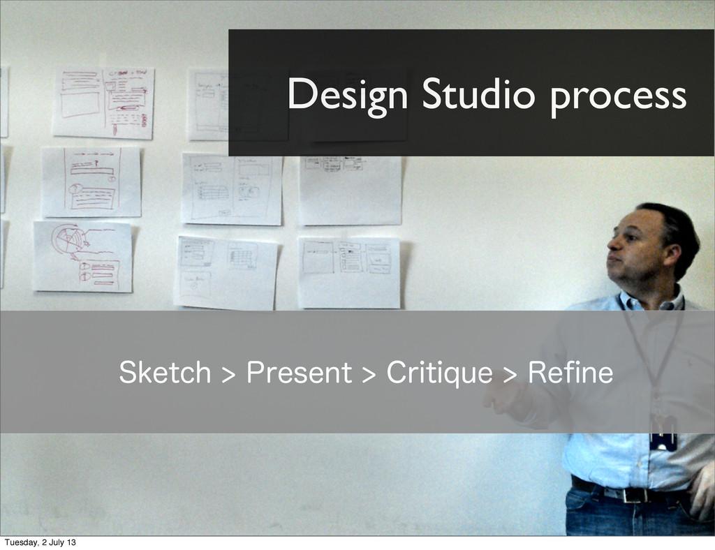 Design Studio process 4LFUDI1SFTFOU$SJUJR...