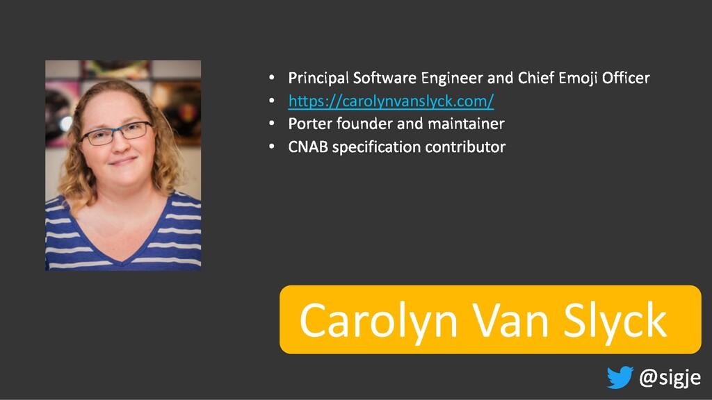 Carolyn Van Slyck https://carolynvanslyck.com/