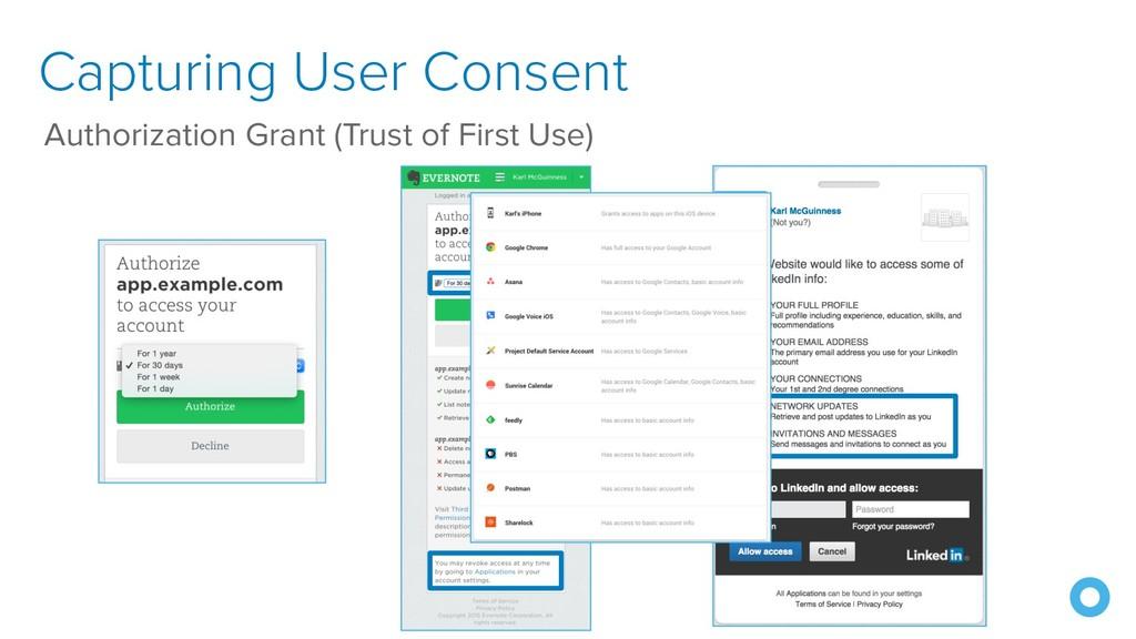 Capturing User Consent Authorization Grant (Tru...