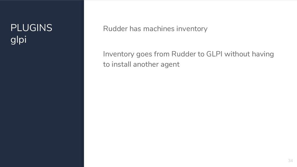 PLUGINS glpi Rudder has machines inventory Inve...