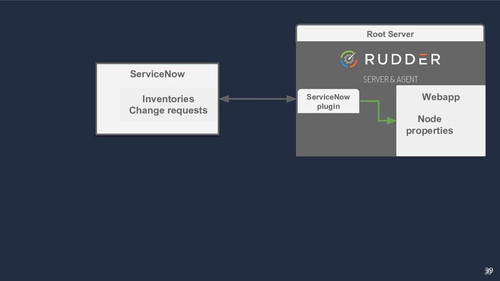 39 39 Root Server SERVER & AGENT Webapp Service...