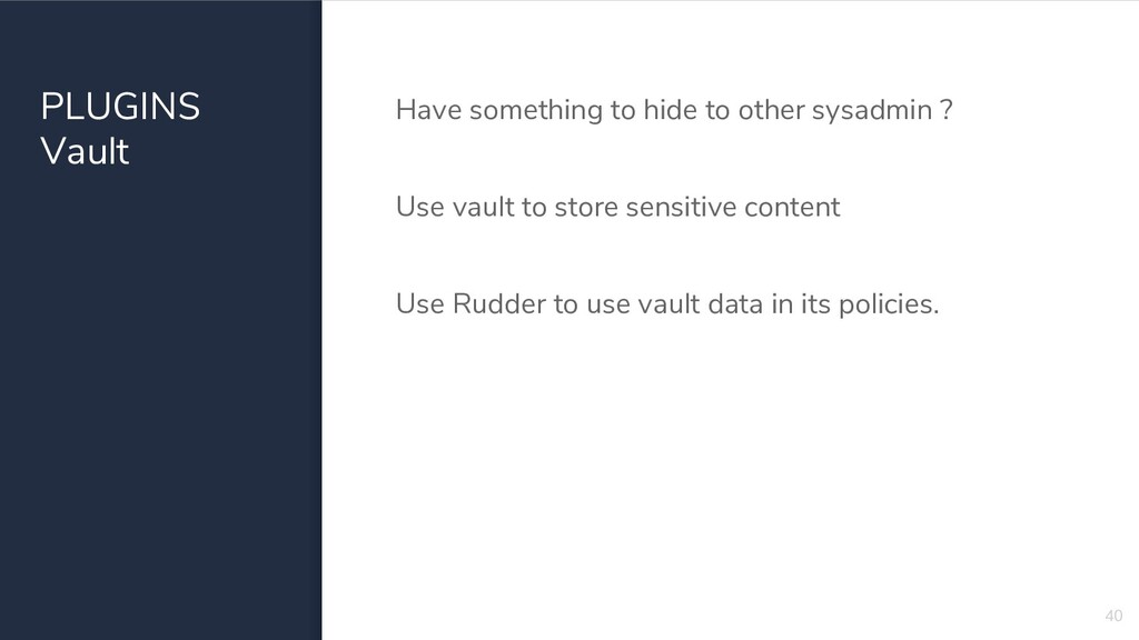 PLUGINS Vault Have something to hide to other s...