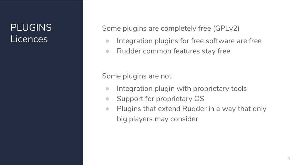 PLUGINS Licences Some plugins are completely fr...