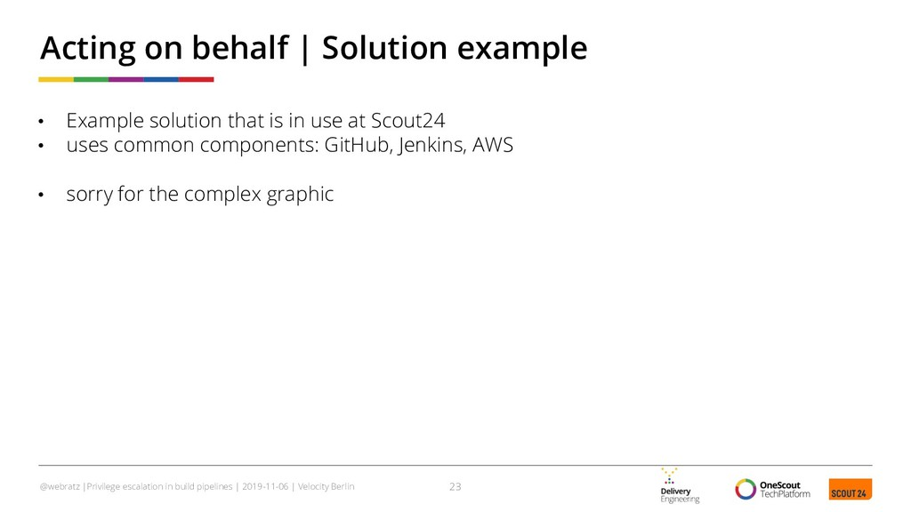 • Example solution that is in use at Scout24 • ...