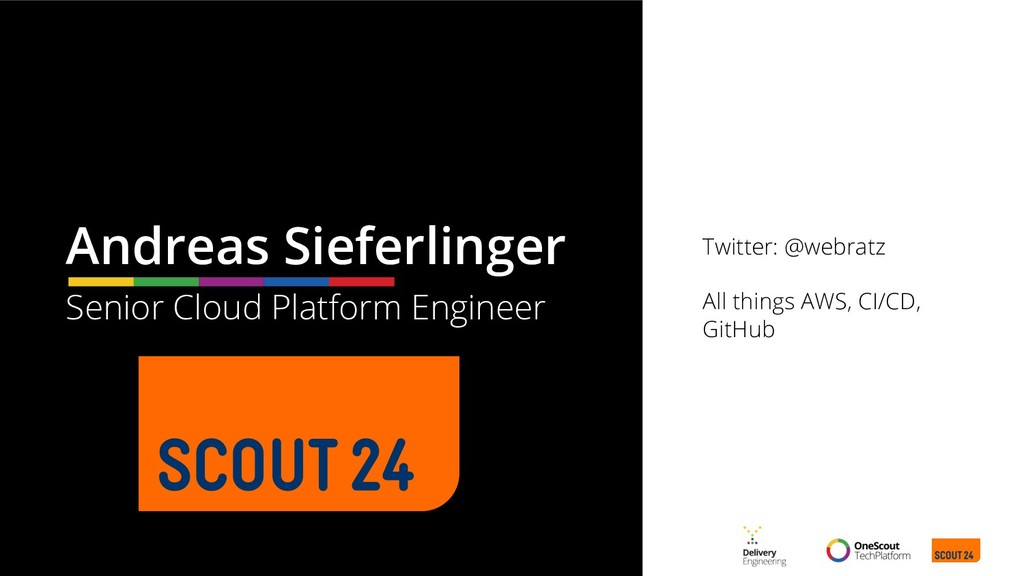 Twitter: @webratz All things AWS, CI/CD, GitHub...