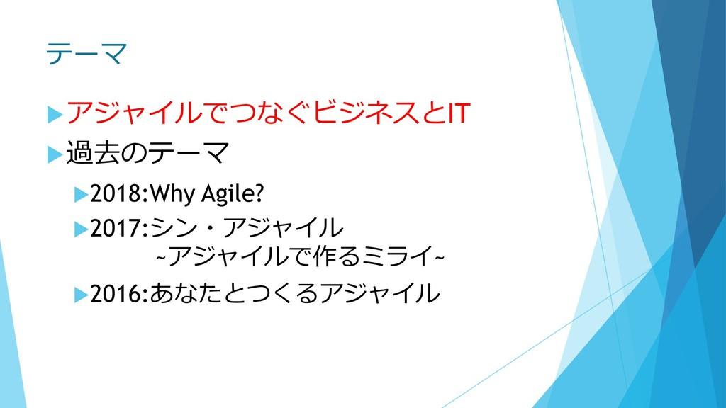 テーマ uアジャイルでつなぐビジネスとIT u過去のテーマ u2018:Why Agile? ...