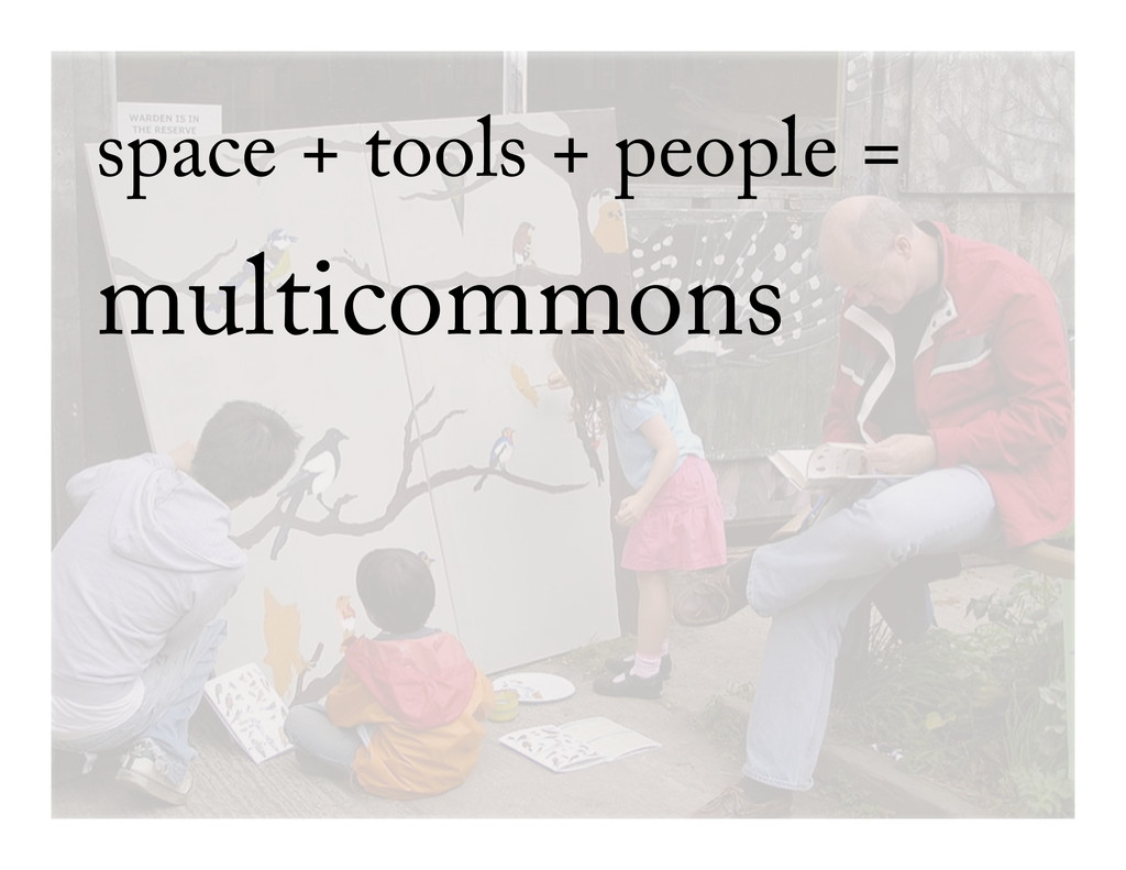 space + tools + people = multicommons