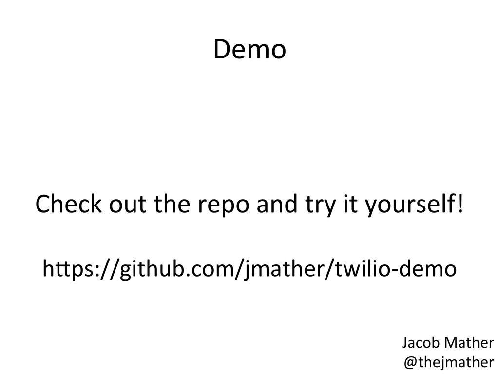 Demo    Check out the repo an...