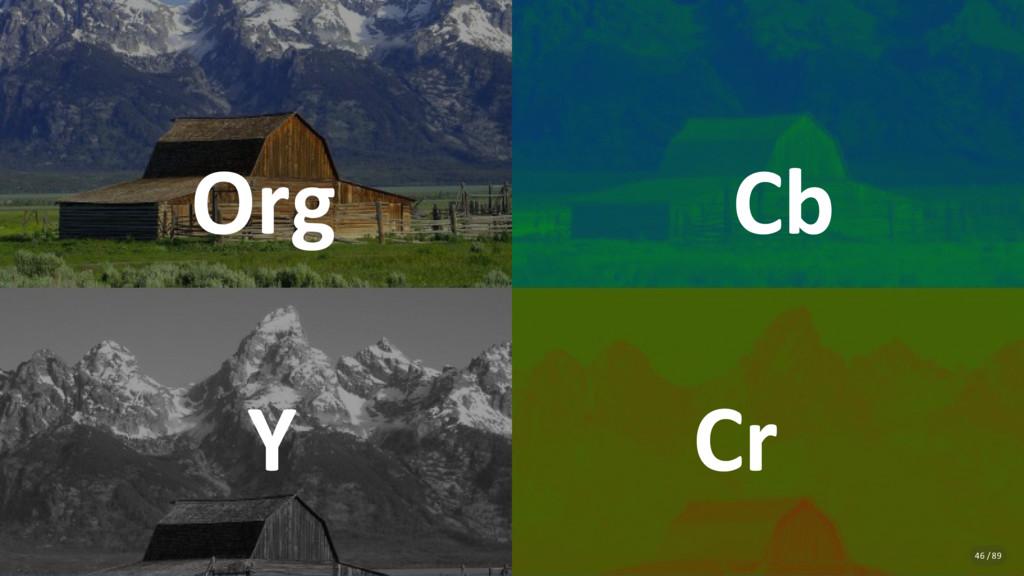 Org Cb Y Cr 46 / 89