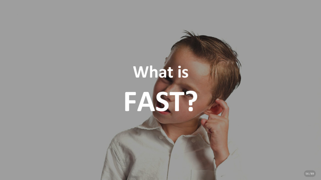 What is FAST? 56 / 89