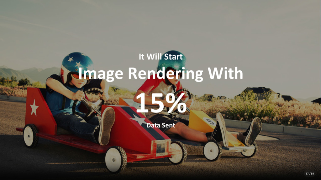 It Will Start Image Rendering With 15% Data Sen...