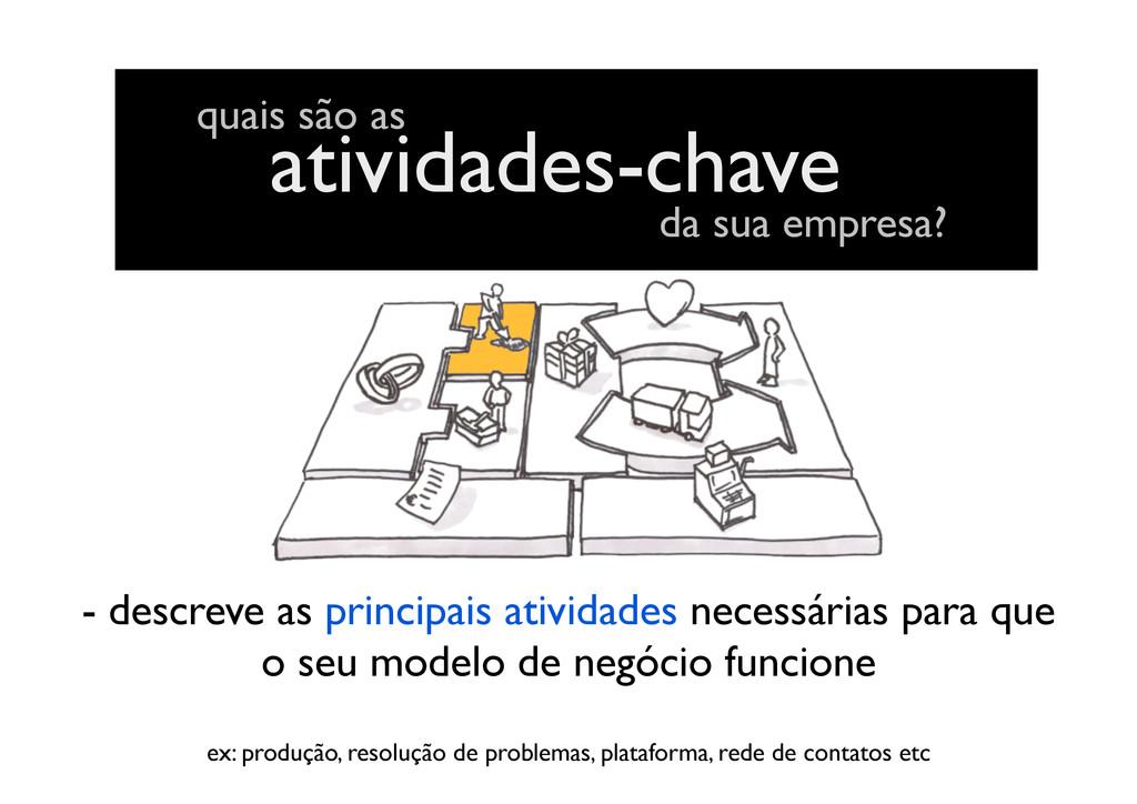 atividades-chave quais são as da sua empresa? -...