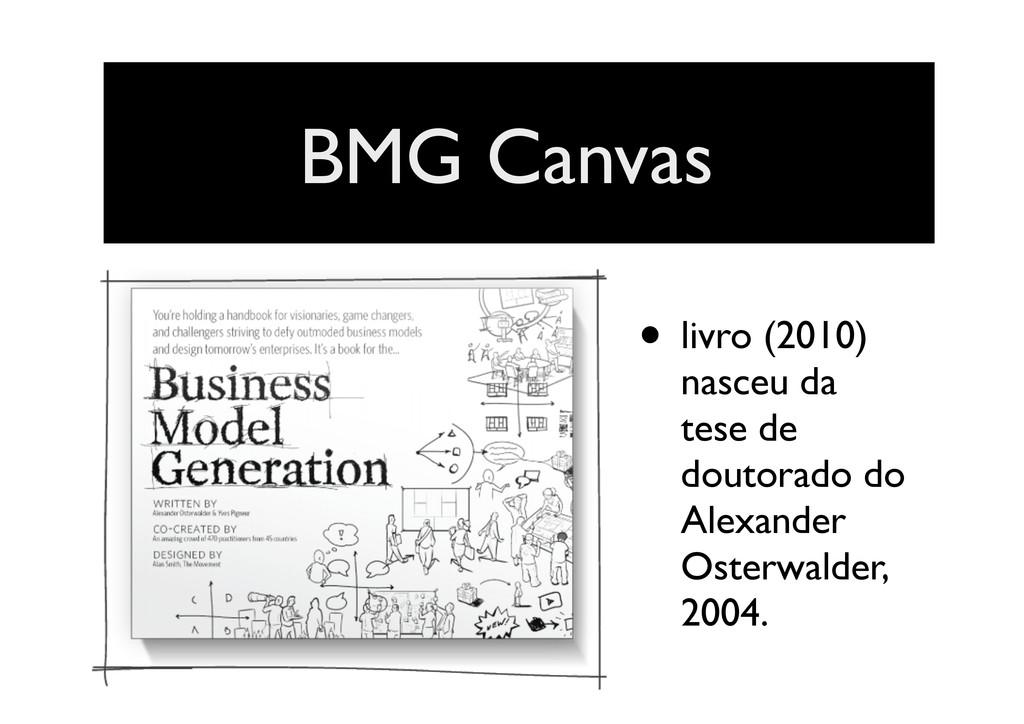 BMG Canvas • livro (2010) nasceu da tese de dou...