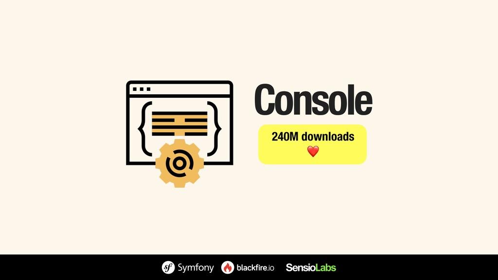 Console 240M downloads ❤