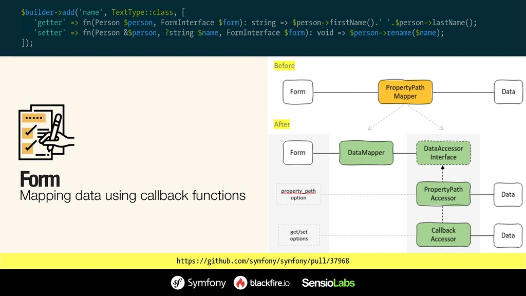 Form Mapping data using callback functions http...