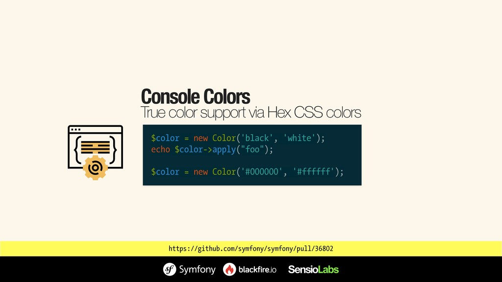 Console Colors True color support via Hex CSS c...