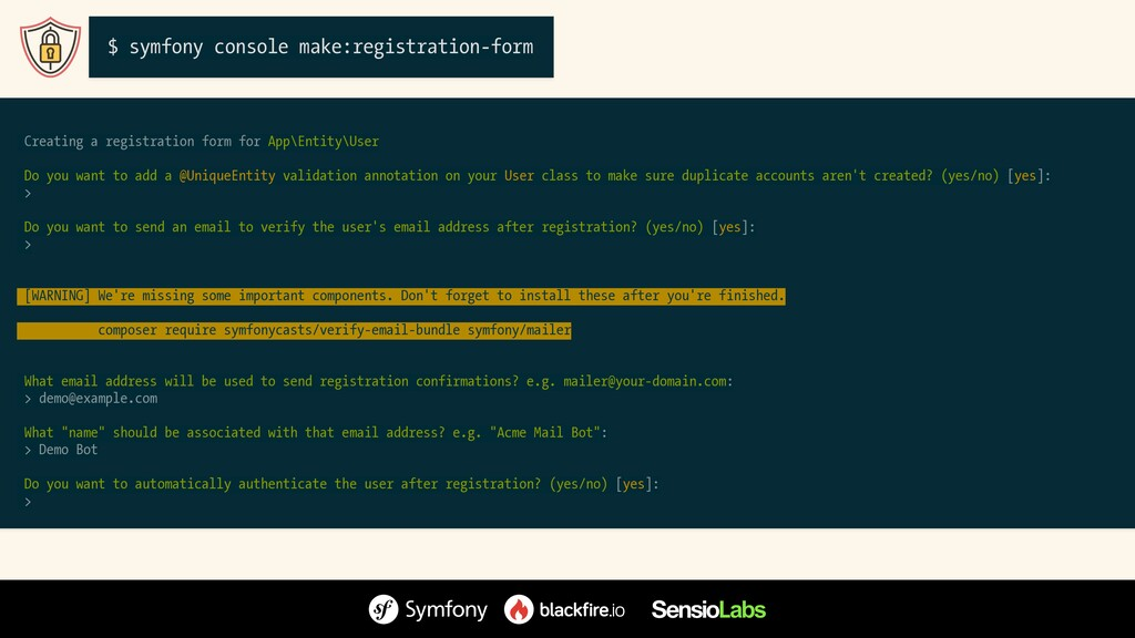 Creating a registration form for App\Entity\Use...