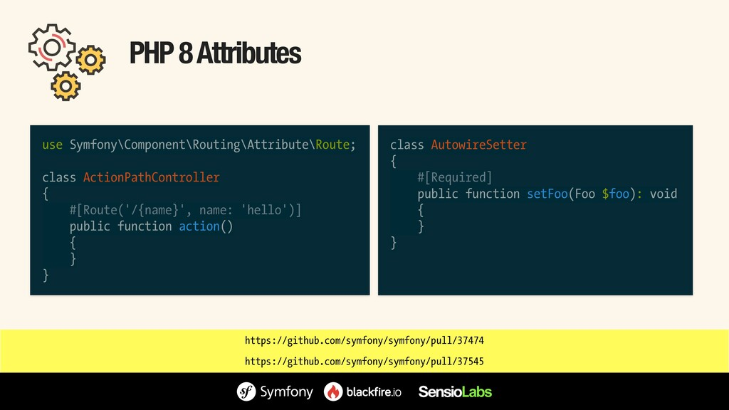 PHP 8 Attributes use Symfony\Component\Routing\...