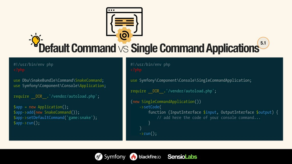 Default Command vs Single Command Applications ...