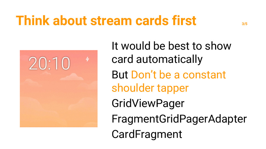 Think about stream cards first 3/5 It would be ...