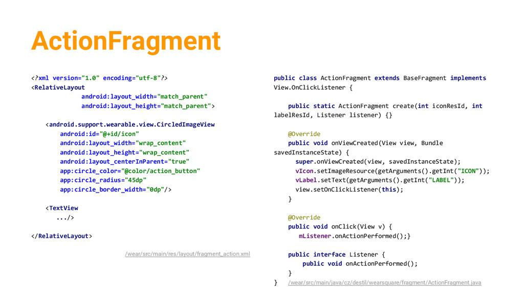 "ActionFragment <?xml version=""1.0"" encoding=""ut..."