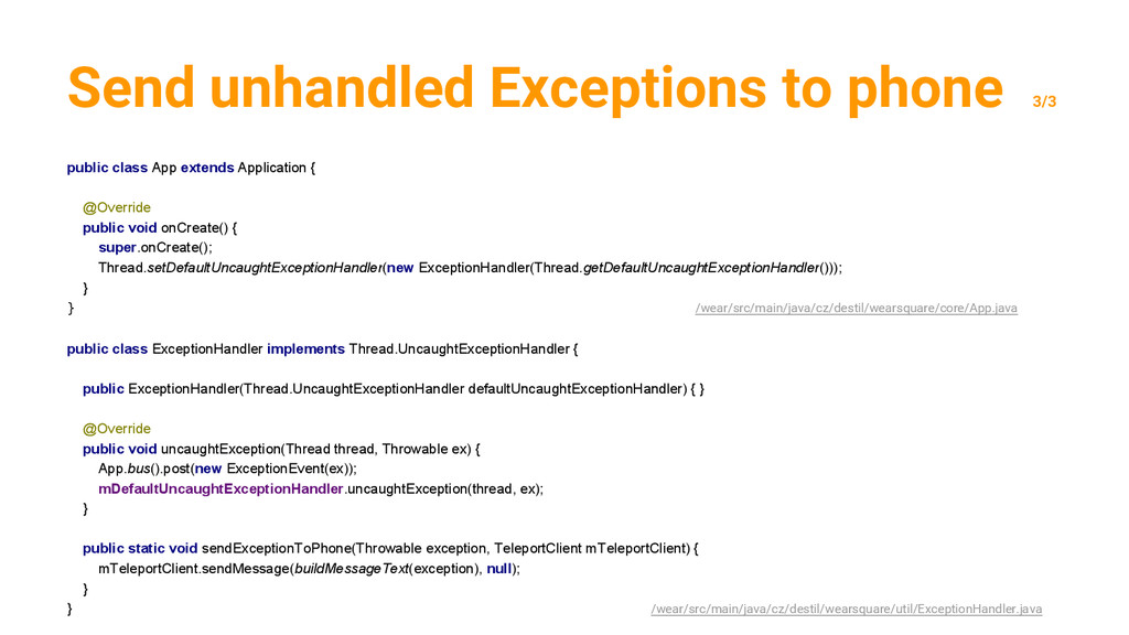 Send unhandled Exceptions to phone 3/3 public c...