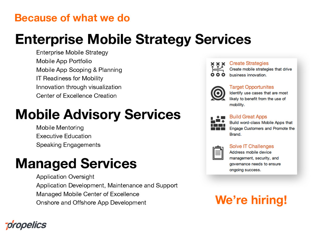 Because of what we do Enterprise Mobile Strateg...