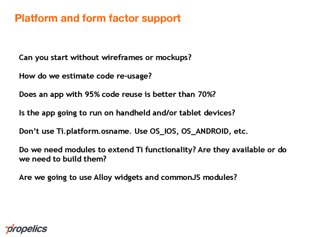 Platform and form factor support Can you start ...