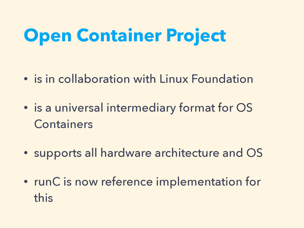 Open Container Project • is in collaboration wi...