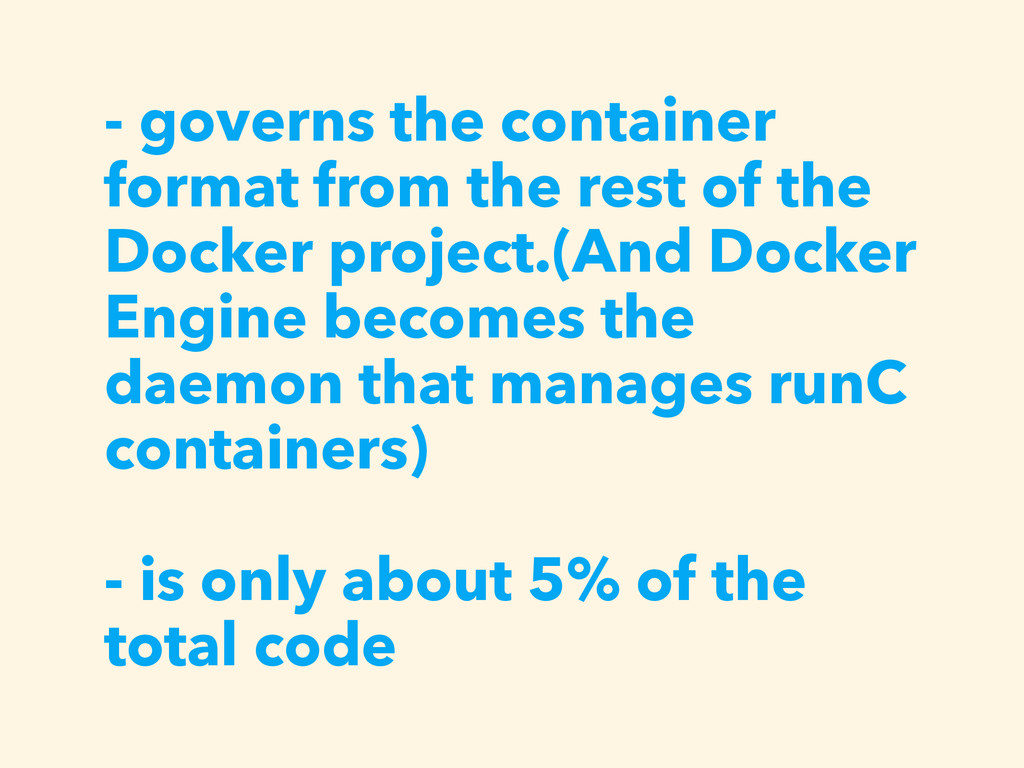 - governs the container format from the rest of...