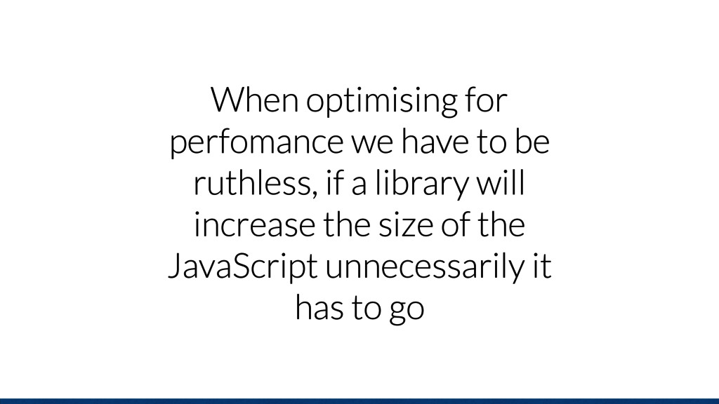 When optimising for perfomance we have to be ru...