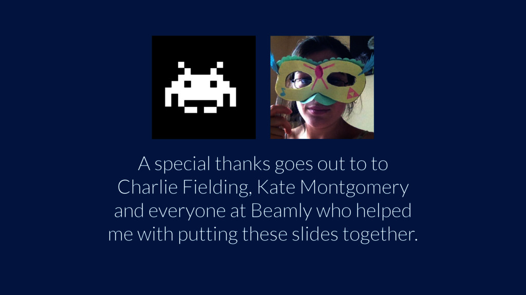 A special thanks goes out to to Charlie Fieldin...