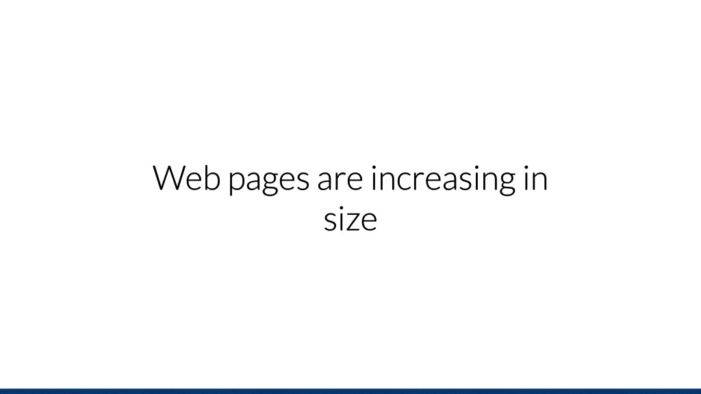Web pages are increasing in size