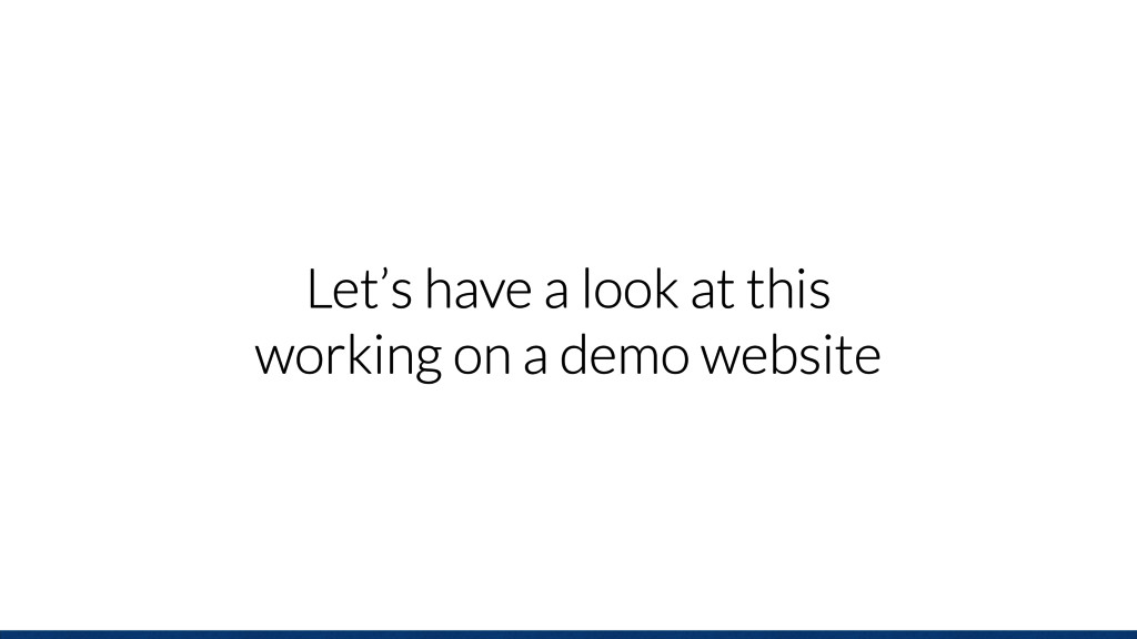 Let's have a look at this working on a demo web...