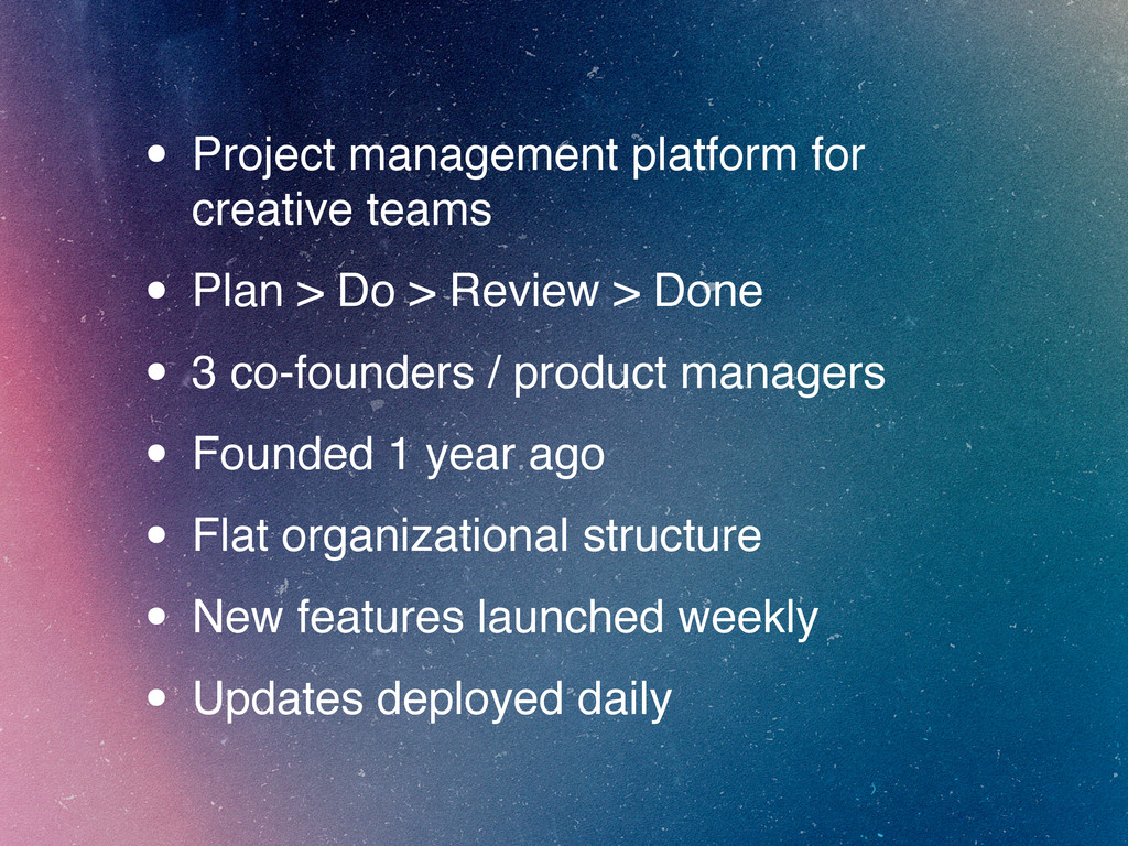 • Project management platform for creative team...