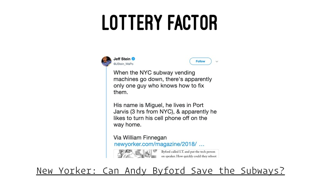 LOTTERY FACTOR New Yorker: Can Andy Byford Save...