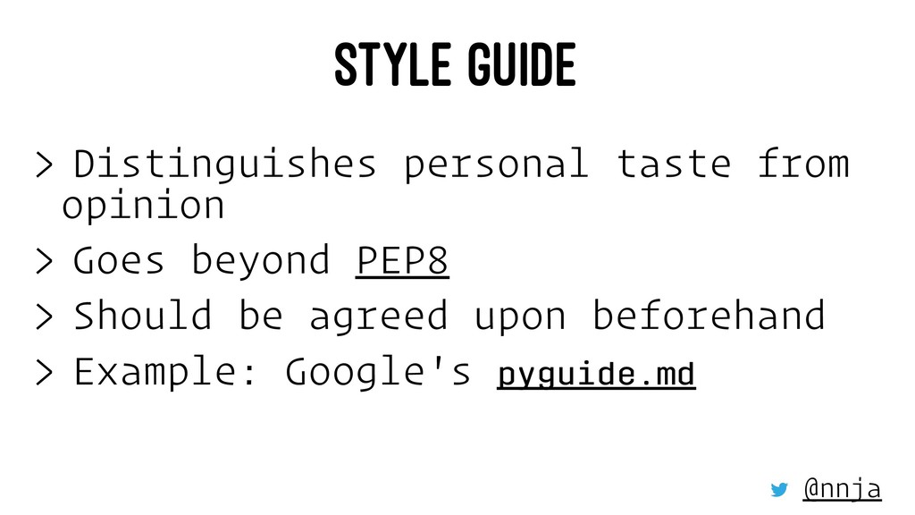 STYLE GUIDE > Distinguishes personal taste from...