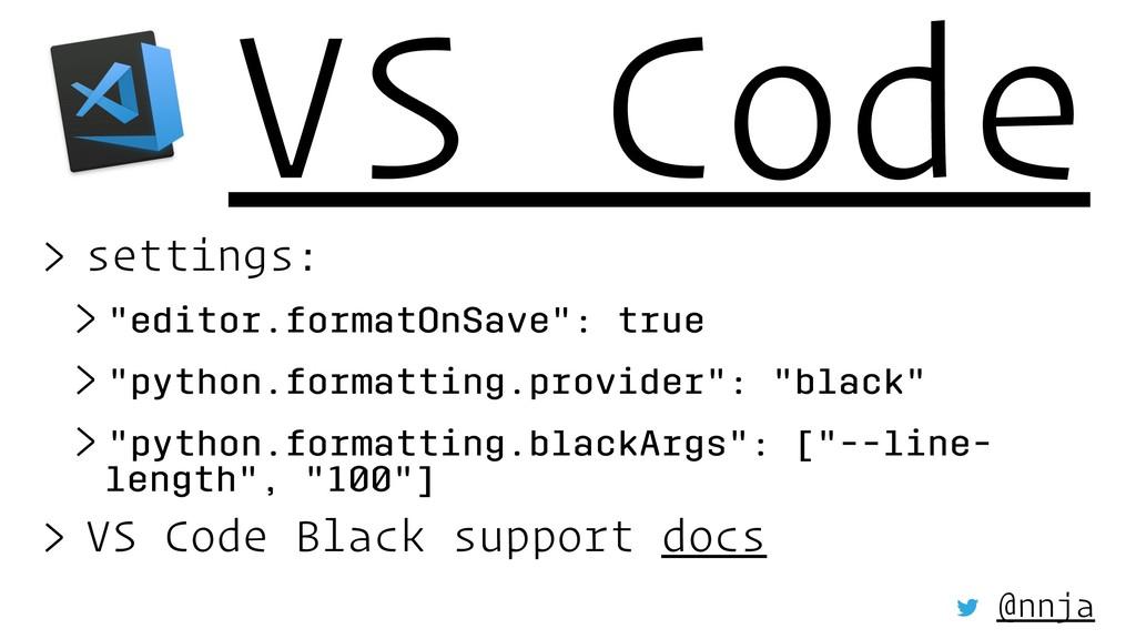 "VS Code > settings: > ""editor.formatOnSave"": tr..."