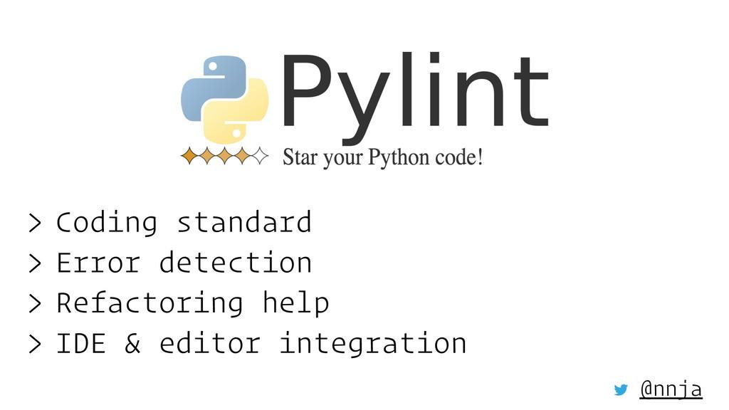 > Coding standard > Error detection > Refactori...