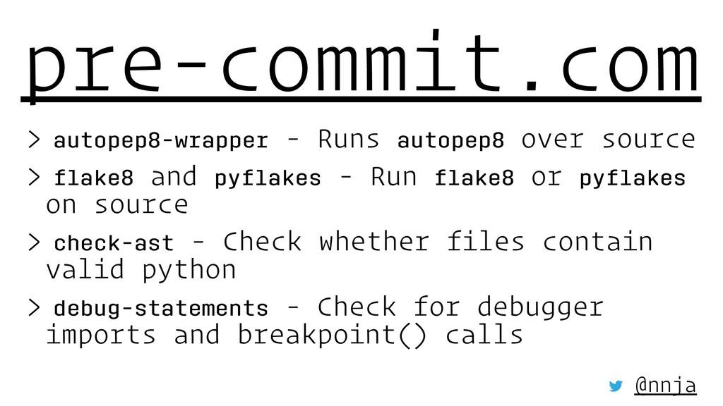 pre-commit.com > autopep8-wrapper - Runs autope...