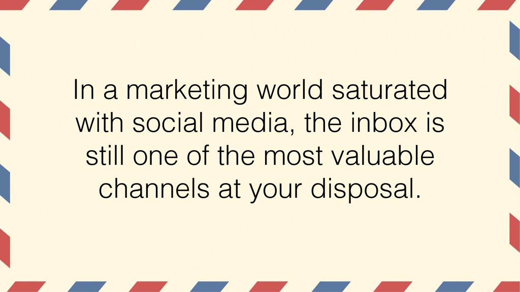 In a marketing world saturated with social medi...