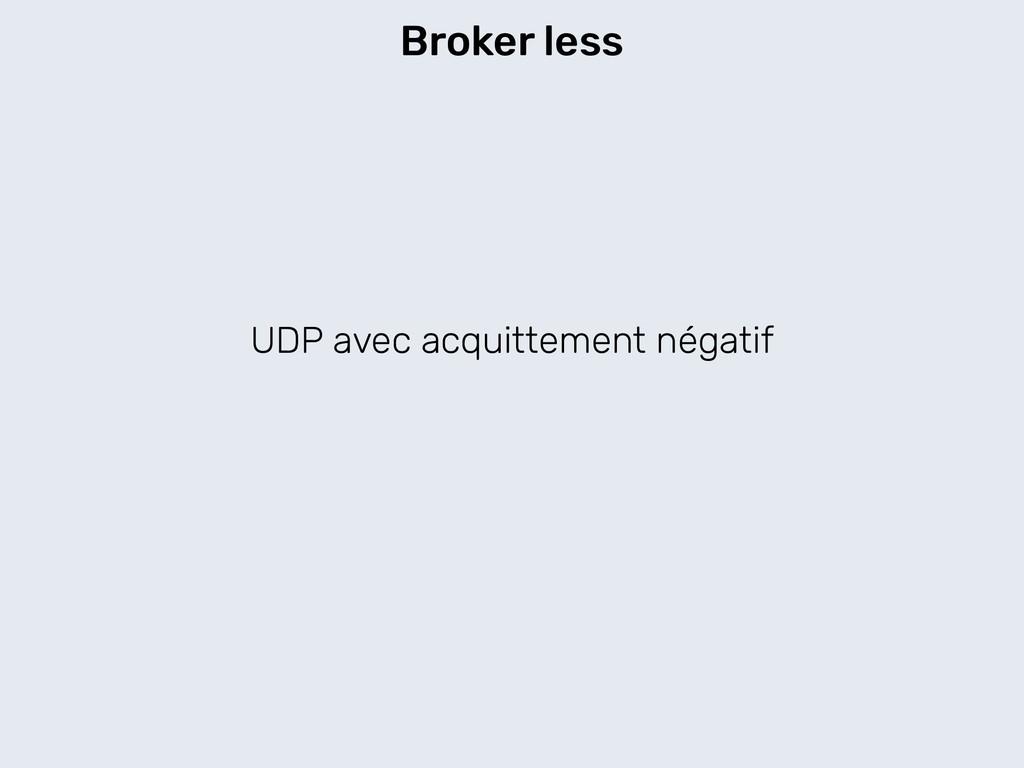 UDP avec acquittement négatif Broker less