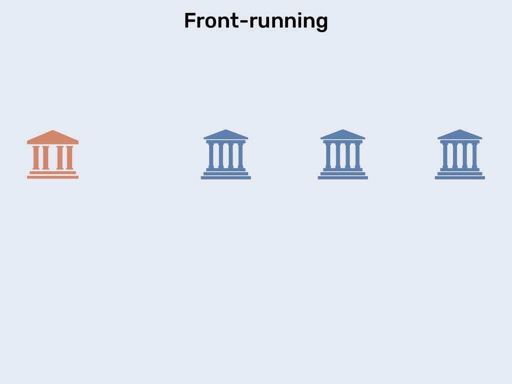 Front-running