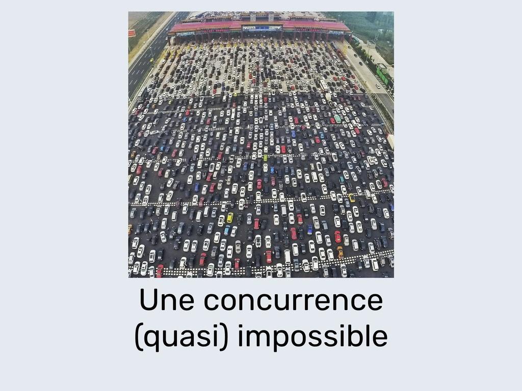 Une concurrence (quasi) impossible