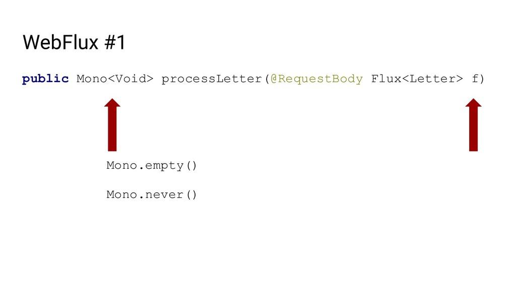 WebFlux #1 public Mono<Void> processLetter(@Req...