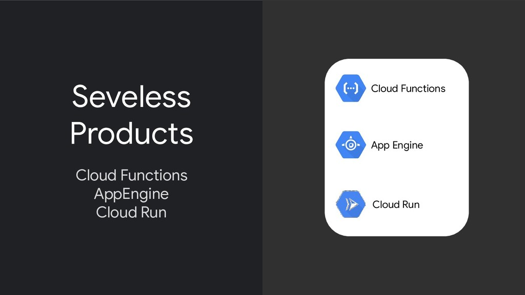 Seveless Products Cloud Functions AppEngine Clo...