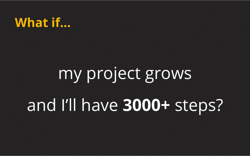 What if... my project grows and I'll have 3000+...